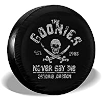 "Ksiwre Funda de Neumático Polyester Spare Tire Wheel Cover Car Truck SUV Camper 14"" 15"" 16"" 17"" The Goonies Never Say Die"
