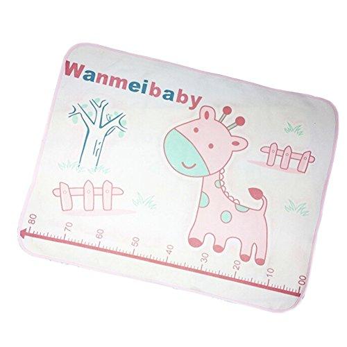PINK Giraffen-Baby-KeepMeDry Pad Neugeborene Krippe Blatt Infant Matratzenbezug