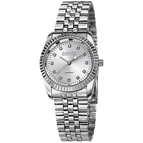 August Steiner da donna, con orologio, in acciaio INOX