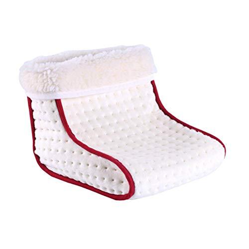 Dream-cool Elektrisch beheizte Schuhe, Massage-Fußwärmer, Fußwärmer, Fußmassage, Wärmendes Polster, elektrisch beheizt, Infrarot-Schuh für Büro und Schlafzimmer