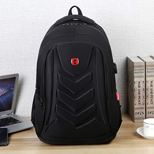 Hffan Laptop Rucksack Studenten Schulrucksack Reise Rucksack/sportlich Knapsack lässiger Daypack/ 17 Zoll Laptop Backpack Herren Notebook Schultasche für Uni/College/Outdoor/Wandern