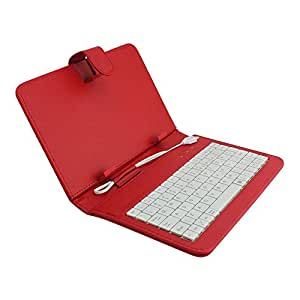 Celkon Xion S Ct695 7inch Keyboard Case by Krishty Enterprises - Red