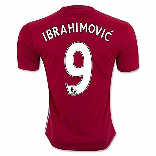 20162017manchester-united-fc-9zlatan-ibrahimovic-calcio-domestico-jersey-in-rosso-per-nuova-stagione