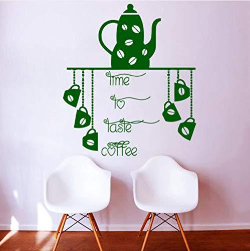 etasse Kunst Wandtattoos Zeit Nach Geschmack Kaffee Küche Wandaufkleber Vinyl Küche Wasserdichte Wandbilder 67 * 59 ()