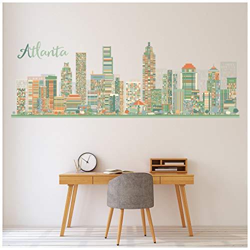 azutura Die Skyline von Atlanta Georgia USA Wandtattoo Erhältlich in 8 Größen Riesig Digital