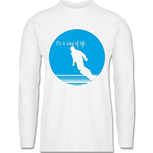 Après Ski - It's a way of life - Snowboarder - Longsleeve / langärmeliges T-Shirt für Herren Weiß