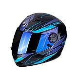 Scorpion 49-285-66-05 Motorrad Helm, Schwarz/Blau, L
