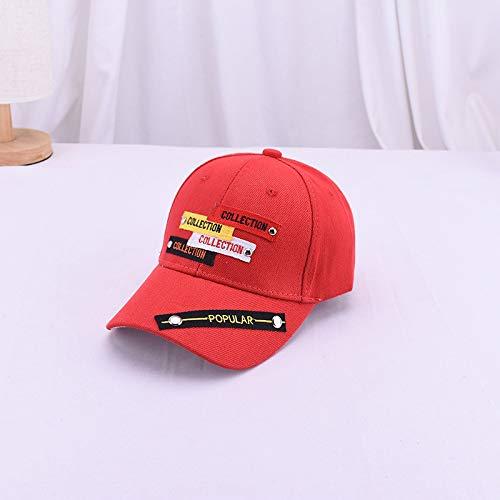 Bear Kostüm Kopf Hut - mlpnko Neue Kinder Label Stickerei Baseball Hut Männer und Frauen Baby Mode Niet Caps Kinder Visier rote Kinder 3-8 Jahre alt