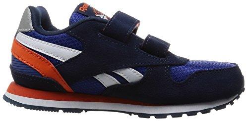 Reebok Gl 3000 2v, Scarpe da Corsa Bambino Blu / Arancione / Grigio (Team Dark Royal/Navy/Energy Orange/Steel)