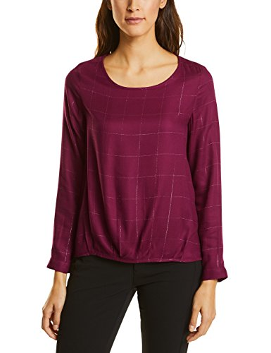Lurex-karo-shirt (Street One Damen Bluse 340697, Rot (Warming Berry 21118), 40)