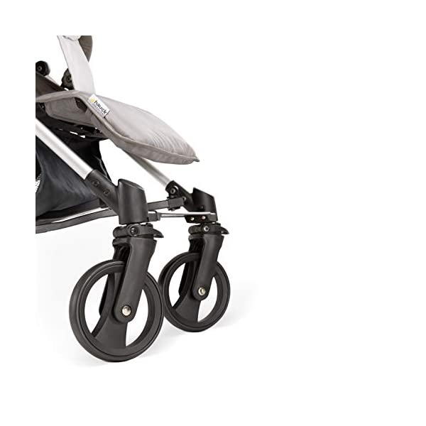 Hauck Vegas, Lightweight Pushchair with Lying Position, from Birth to 25 kg, Buggy with Cup Holder, Umbrella Fold Pushchair, Charcoal Hauck Easy folding - this comfort stroller can be folded away extra flatly making it suitable for almost any car boot; the buggy on travels and family trips Long use - this modern pushchair can be used for a long period of time: It is suitable From birth up to 25 kg Comfortable - with backrest and footrest adjustable into lying position, extendable hood with UV protection, soft padding, suspension, swivelling front wheels and ergonomically shaped push handles 17