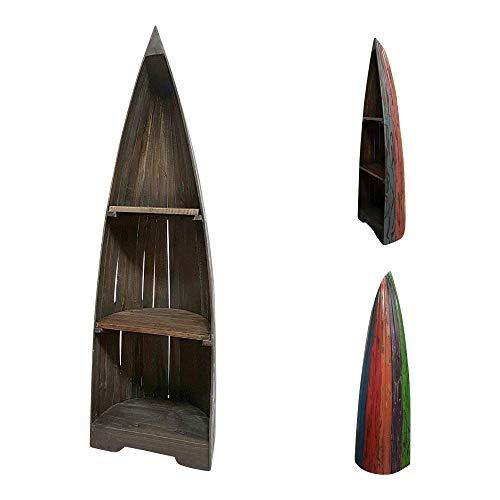 dasmöbelwerk Bootsregal Bali Dekoregal Holzregal Boot Regal Bücherregal H 145 cm Shabby