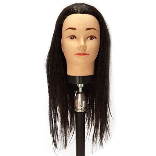 Tête à coiffer 40-45 cm cheveux mixtes