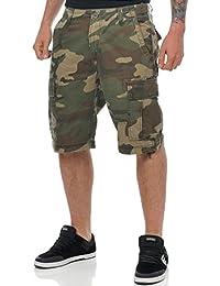 Pantalones cargo cortos Jesse James Industrial Woodland-Camo