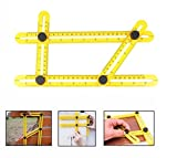 Angle-izer Template Tool Règle Multi - angle OKPOW Instrument de Mesure Multifonctionnel en ABS...