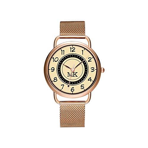 amen Mesh Gürtel ultradünne Uhr wasserdichte Uhr Quarzuhr Weihnachten Benutzerdefinierten Namen Monogramm. Vintage Creme Gesicht Armbanduhr ()