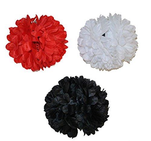 Halloweenia - Blumen Blüten Set 12 Stk. Kostüm Accessoire- day of dead- Muerte- Hairclip, 13cm Durchmesser, ()
