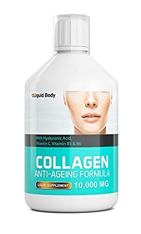 Liquid Body Collagène 10 000 mg Anti-age Formule - Supplément Liquide Journalier - Délicieux Goût Fruits Rouges Boisson - 17 Day Programme - Fort Taux D'Absorption (Baie 500ml)