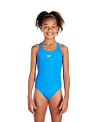 Idea Regalo - Speedo End+ Medalist 1-Pce Grls Costume da Bagno Junior, Blu, 12 anni
