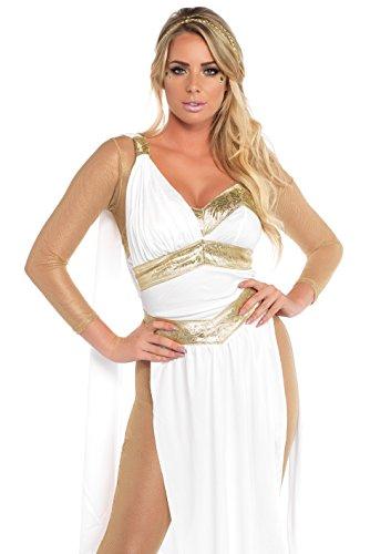 LEG AVENUE 85578 - Kostüm Set gelbene Göttin, M, weiß/Gelb