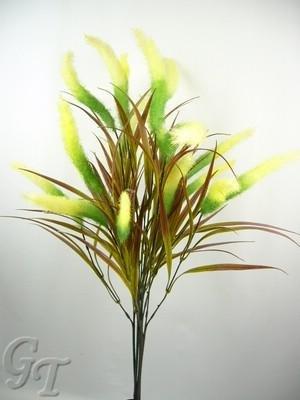 6seta artificiale fiori Foxtail Spray da GT Decorazioni Lime (with yellow)