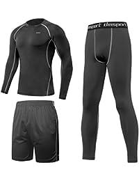 SPARIN Fitness Completi sportivi da uomo, Abbigliamento Sportivo con taglia Europea. compatibile per casual quotidiano, sport, corsa, palestra, pallacanestro e all'aperto.