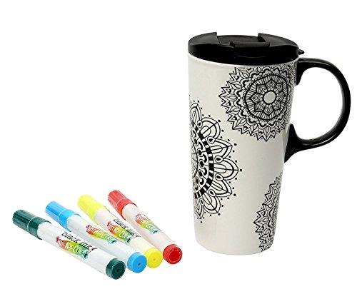 Just Add Colore - Ceramica Colore la tua tazza di corsa (Mandala Design)