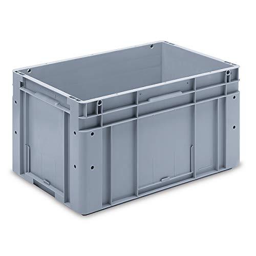utz Euronorm-Stapelbehälter - Außen-LxBxH 600 x 400 x 320 mm - grau, VE 1 Stk - Box Euronorm Stapelkasten Euronorm Stapelkästen Euronorm-Stapelbehälter Euronorm-Stapelkasten Kiste Lagerkasten Mehrweg-Behälter Stapelkasten Transportkiste aus Kunststoff
