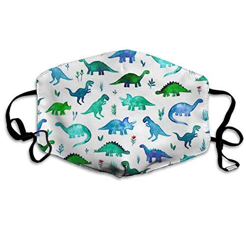 Nicegift Tiny Dinos in Blau und Grün Gesichtsmasken, atmungsaktiv, Staubfilter, Masken mit elastischer ()