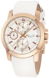 Reloj Kenneth Cole KC2695 de cuarzo para mujer con correa de piel, color blanco de Geneva Watch Group