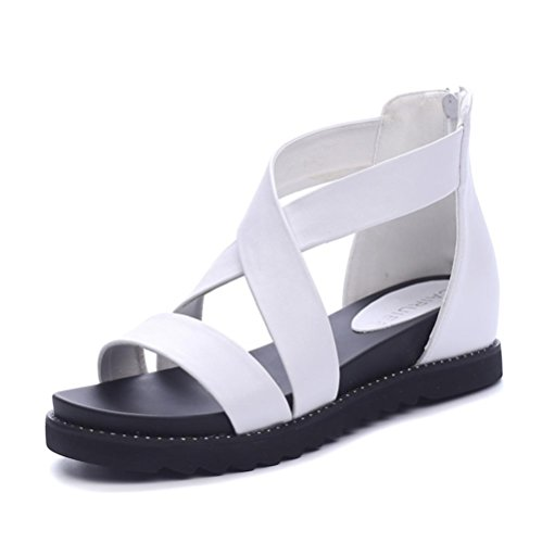 pengweiPost Rei?verschluss Sandalen Damen Sommer Tide Bandage Sandalen 2