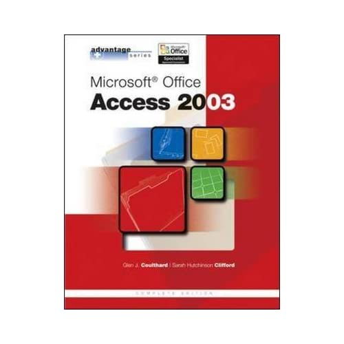 [(Microsoft Office Access 2003)] [By (author) Glen J. Coulthard ] published on (August, 2004)