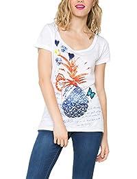 Desigual Delphine - T-shirt - Imprimé - Manches courtes - Femme
