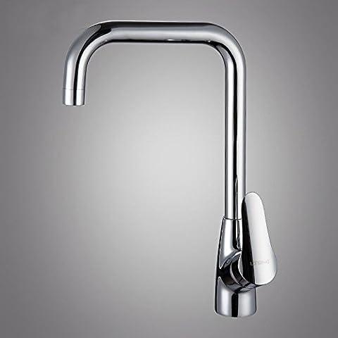 Qwer die Mischbatterie Kupfer Kitchen Sink Mixer zu drehen, um den warmen und kalten Dusche Keramik Ventil Zapfhähne Rotation Heiß/Kaltwasser.