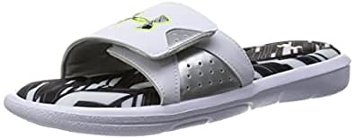 Under Armour Men's UA Ignite Banshee II SL White/Metallic Silver/High-Vis Yellow Sandal