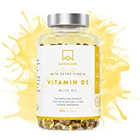 [ NOVEDAD ] Alta Dosis de Vitamina D3 [5000 IU] - con Aceite de Oliva Extra Virgen para una absorción óptima - Sin gluten ni lactosa - Favorece la función ósea, muscular e inmunológica - 365 cápsulas
