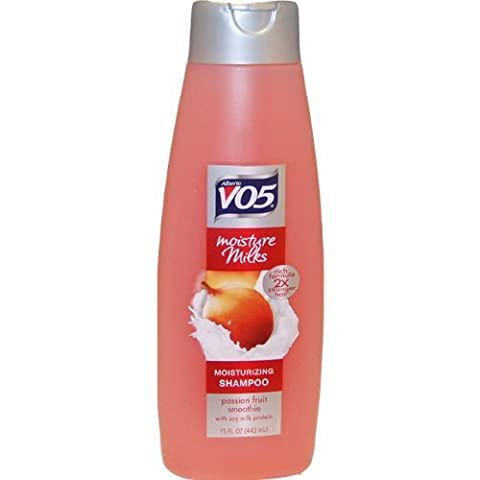 Moisture Milks Passion Fruit Smoothie Shampoo By Alberto Vo5 for Unisex, 15 Ounce by Alberto VO5 (English Manual)