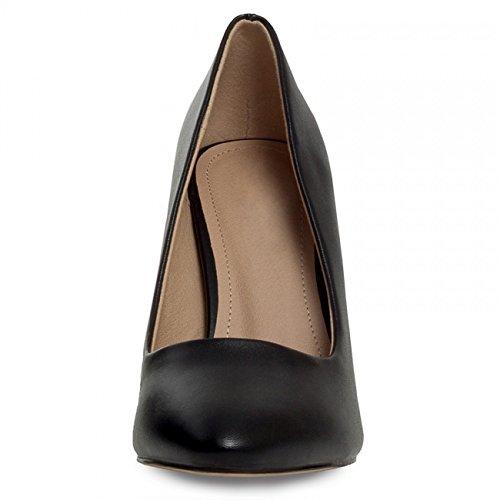 CASPAR - Escarpins classiques et élégants pour femme - Chaussures à talons hauts et jolis bouts pointus - Plusieurs coloris - SBU006 Noir