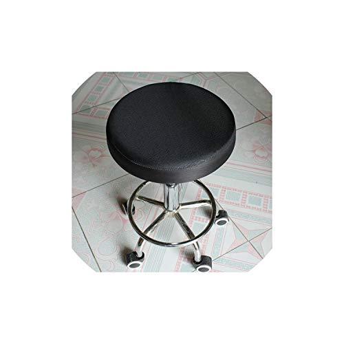 Moily Fayshow Einfache Stuhl-Abdeckung Bar Runde Hocker Polyester Sitzbezug Stuhl, Schwarz, 33cm - Polyester Runden Stuhl