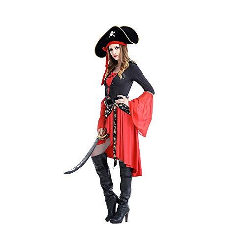 Piraten Kostüm Weiblich - Memory meteor Weibliches Piratenkostüm,Damen Pirat Kostüm Weibliche Piraten Kleid Qualität Kleidung Für Frauen,L