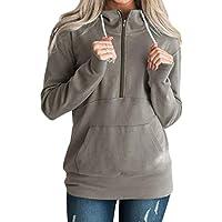 Damen Sweatshirt,Geili Frauen Freizeit Solid Color Hoodie Damen Mode Reißverschluss Langarm Sweatshirt Jumper... preisvergleich bei billige-tabletten.eu