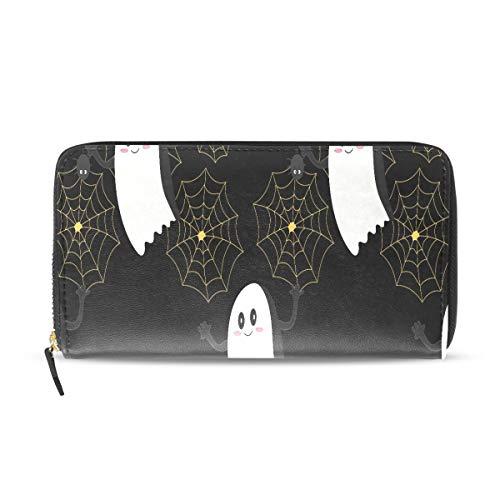 Kühle Halloween Creep Fun Ghost Lange Passport Clutch Geldbörsen Reißverschluss Brieftasche Fall Handtasche Geld Organizer Tasche Kreditkarteninhaber Für Dame Frauen Mädchen Männer Reisegeschenk