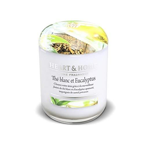 Eukalyptus-home-kerze (Heart & Home Kerze, groß, weißer Tee und Eukalyptus)