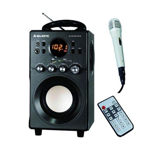 Majestic AH239K BK Audiosystem 2.1, Lautsprecher mit Subwoofer, Eingänge: AUX, USB, SD (Dj-setup Mit Lautsprecher)