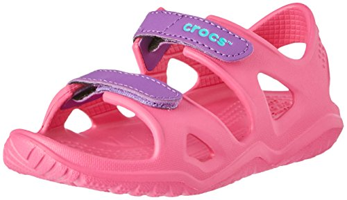 Crocs Unisex Kids' Swiftwater River Sandal K Open Toe (Paradise Pink/Amethyst 60o), 3 UK 34/35 EU
