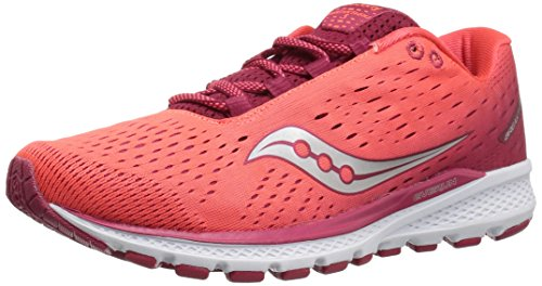 Saucony Women Breakthru 3 Competition Running Shoe Running Shoes Red - Coral 5