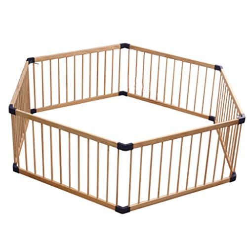 6-panel-massivholz (WYDM Protokoll Farbe 6 Panel Indoor Kinder Spiel Zaun Baby Krabbeln Kleinkind Zaun Baby Hause massivholz schutzzaun (DREI größen optional) (größe : Diagonal 180cm))