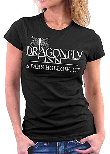Gilmore Girls Dragonfly Inn Frauen Basic Rundhals-T-Shirt, S -