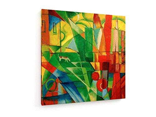 marc-franz-paisaje-con-la-casa-perro-100x100-cm-weewado-impresiones-sobre-lienzo-muro-de-arte-antigu