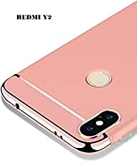 ERIT 3-in-1 Rose Gold Matte Finish Full Body Protective Back Cover Case for Redmi Mi Y2